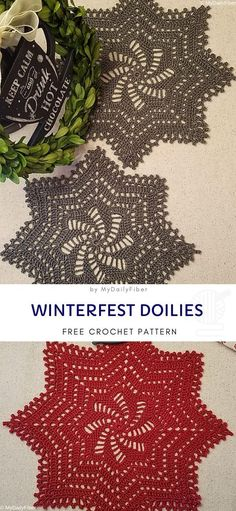 Making a bunch of festive doilies will complete your Christmas decor and make it very polished. Make them in any color you like to match your other festive decorations frei Deckchen Lacy Winterfest Doilies are Timeless Home Decor - Free Crochet Pattern Crochet Snowflake Pattern, Christmas Crochet Patterns, Crochet Stars, Crochet Snowflakes, Doily Patterns, Easy Crochet Patterns, Thread Crochet, Crochet Doilies, Crochet Angels