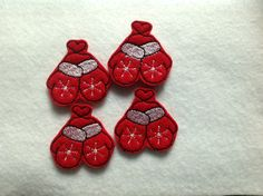 MITTENS Felt Embellishments / Appliques - Set Of 4 - Ready To Ship ~ Available Cut Or Uncut - pinned by pin4etsy.com