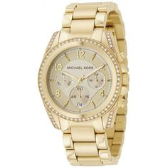 Shop for Michael Kors Women's Blair Goldtone Stainless Steel Chronograph Watch - Gold. Get free delivery On EVERYTHING* Overstock - Your Online Watches Store! Michael Kors Gold, Michael Kors Watch, Michael Kors Chronograph Watch, Oversized Watches, Mk Watch, Watch Box, Gold Face, Gold Plated Bracelets, Unisex