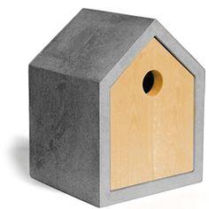 Ein Design Vogelhaus aus Beton. Ein edles und stilvolles Geschenk für Garten & Balkon. Ein wahres Design Schmuckstück für Kohlmeise und Co.