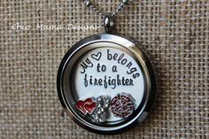 Hey, I found this really awesome Etsy listing at https://www.etsy.com/listing/211531144/my-heart-belongs-to-a-firefighter-locket