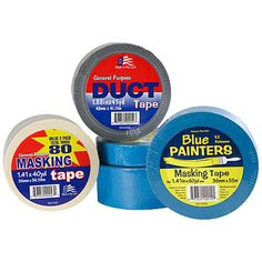 Assorted Tape  $2 - $4 Each We have the perfect tape for your next project! Sizes & selection vary by store.    Choose from:    •General purpose duck tape  •Masking tape  •Blue painters masking tape in assorted sizes  SKU: 240006045, 240006118, 240006431, 240006432