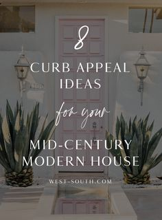 Mid-Century Modern Style Curb Appeal from West-South. How to know if you have a Mid-Century Modern or a Ranch. Mid Century Modern Door, Mid Century Exterior, Mid Century Modern Lighting, Mid Century Decor, Mid Century House, Golden Sword, Home Exterior Makeover, Exterior Remodel, Exterior Siding