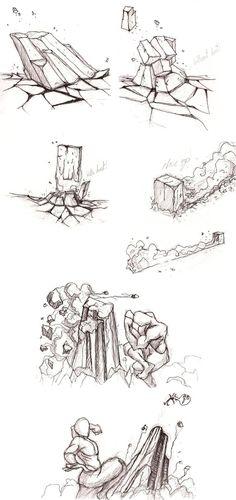 Earthbending practice-sketch by moptop4000.deviantart.com on @DeviantArt