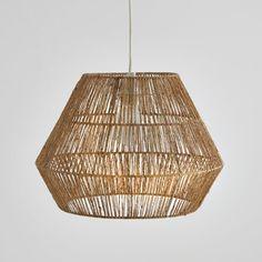 Hanglamp in sisal, Yaku Ceiling Light Shades, Lamp Shades, Lamp Light, Sisal, Ceiling Lamp, Ceiling Lights, Natural Lamps, Rattan Lamp, Structure Metal