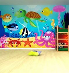 Wall Mural Ideas For Kids Under The Sea....