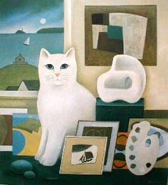 THE ARTIST'S CAT by Martin Leman
