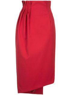 Aula pleat detail pencil skirt