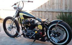 Australian harley davidson bobber motorcycle