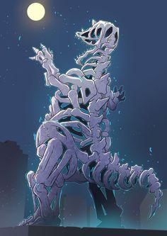 埋め込み Godzilla Ps4, Strange Beasts, Mecha Anime, Monster Design, Weird Creatures, Geek Culture, Creature Design, Concept Art, Cool Art