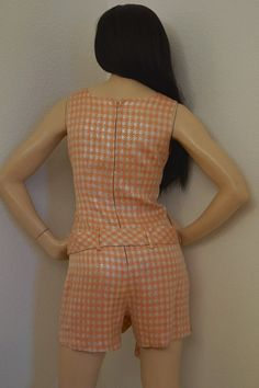 60s Mod Romper Shorts / 1960s Go Go Hot Pants by ModVibeVintage