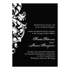 Classy Black and White Wedding Invitation Set