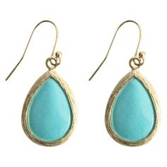 Fish Hook Earring - Turquoise | Target