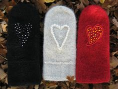 Fingerless Mittens, Knitted Gloves, Bra Hacks, Wrist Warmers, Knitting For Kids, Wool Felt, Diy And Crafts, Textiles, Knitting