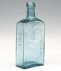 E. W. WILLIAMS - SALEM. C. Co. - OHIO , America, 1845 - 1860. Aquamarine, -