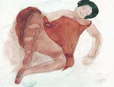 Auguste Rodin. Erotic drawings