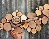 Sky Above Me Wood Slice Sculpture Modern Garden Art Office art recycled wood art tree slice driftwood