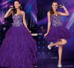 free shipping, $126.57/piece:buy wholesale  cheap purple two piece quinceanera dresses with detachable train sequins crystals ruffles tulle 2016 sweet 16 party homecoming prom dresses 2016 spring summer,reference images,tulle on sweet-life's Store from DHgate.com, get worldwide delivery and buyer protection service.