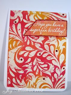Morning Glory Card Studio: stamped and embossed