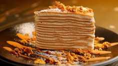 Crepe cake layered with tea-flavoured cream at Magic Mountain Saloon.