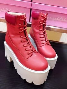 JC Brand High Platforms Genuine Leather Lace-Up Boots  http://ali.pub/0pqcv