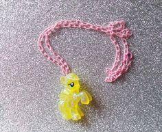 My LIttle Pony Glitter Fluttershy Necklace