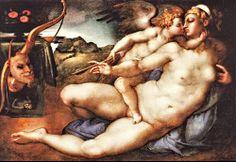 Giorgio Vasari - Venus and Cupid. Tags: venus, afrodite, aphrodite, cupid, eros,