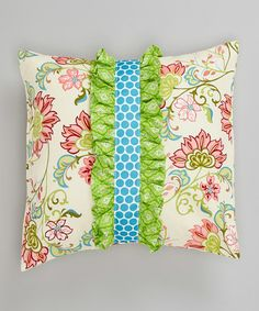 A house is not a home without a few bright, personalized touches. This bold, patterned throw pillow is sure to bring joy and spark to any corner that needs it!14'' x 14''100% cottonMachine wash; tumble dryMade in the USA