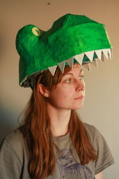 T-rex costume tutorial: Dinosaur mask