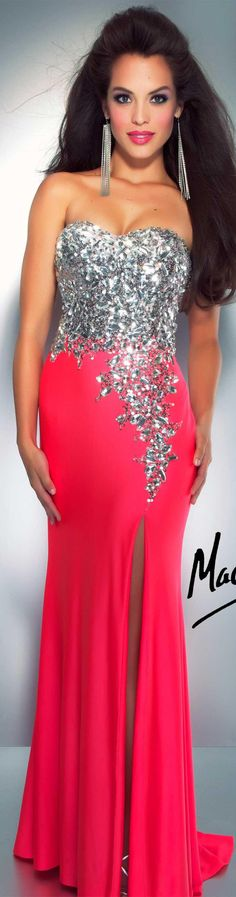 WAIT BUT I WANT THIS DRESS SO BAD. Mac Duggal couture dress neon pink CASSANDRA STONE  STYLE 85152A
