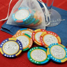 Personalized Chocolate Poker Chips by Beau-coup