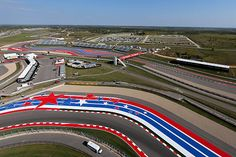 A general view of the track during previews ahead of the United States Formula One Grand Prix at Circuit of The Americas on October 30 2014 in Austin...