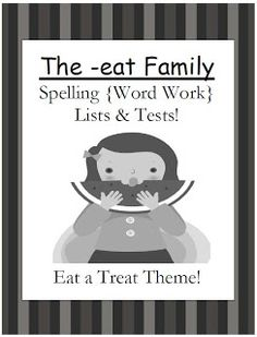 Spell by color free structured phonics based spelling program fern smiths classroom ideas freebie the eat family spelling lists tests fandeluxe Images
