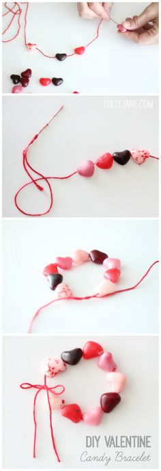 Easy candy heart bracelet