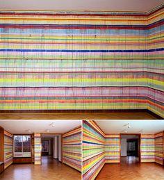 Artist: Markus Linnenbrink --   KINDERZIMMERPANORAMA at Museum Haus Esters, Krefeld, Germany, 2003.