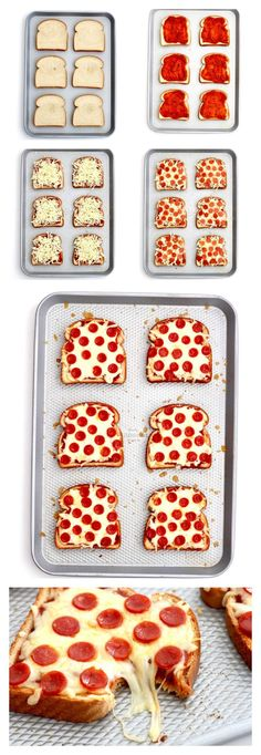 Quick and easy pizza toast is one of our favorite recipes to make for a busy wee. - Quick and easy pizza toast is one of our favorite recipes to make for a busy wee… Quick and easy - Easy Meals For Kids, Kid Meals, Quick Dinner For Kids, Easy To Make Snacks, Easy To Make Dinners, Dinner For One, Yummy Food, Tasty, Delicious Meals