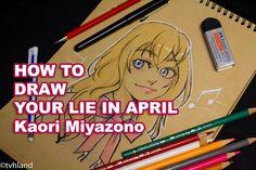 Comment dessiner Kaori Miyazono de Your Lie In April? - Dessin sur papier kraft