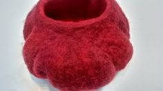 Red Sky hand formed decorative felt pod £14.50