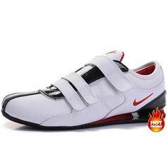 www.asneakers4u.com Mens Nike Shox R3 Velcro White Red Black