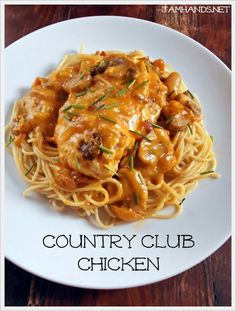 COUNTRY CLUB CHICKEN *Large casserole dish http://www.jamhands.net/2013/12/country-club-chicken.html