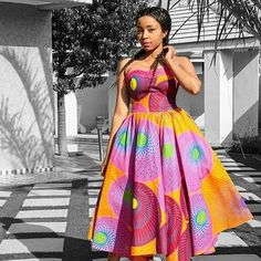 Cutie Short Ankara Gown Styles for Pretty Ladies.Cutie Short Ankara Gown Styles for Pretty Ladies African Dresses For Women, African Print Dresses, African Attire, African Fashion Dresses, African Wear, African Prints, Ghanaian Fashion, Nigerian Fashion, African Women