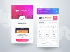 Lyft Analysis App by Rifayet Uday #Design Popular #Dribbble #shots