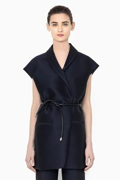 3.1 Phillip Lim Long Vest with Asymmetrical Rolled Lapel