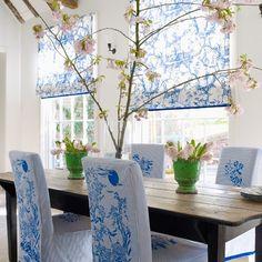 Esszimmer Wohnideen Möbel Dekoration Decoration Living Idea Interiors home dining room - Kühles Blau-Weiß-Esszimmer