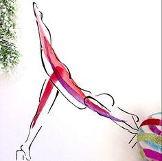 Arabesque on the Reformer   Pilates Art Print, Pilates Gift, Pilates Studio Decor, Inspiration Art, Gifts, Pilates Inspiration Lindsay Satchell Designs https://www.etsy.com/listing/227902785/arabesque-on-the-reformer-pilates-art