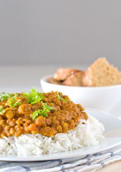 Estas lentejas al curry os van a encantar, es una receta sencilla pero con mucho…