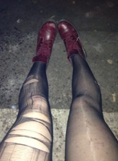 Shred your tights and get on some boots x