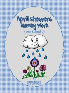 April Showers Morning Work (worksheets) $