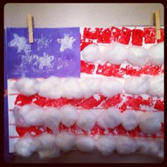 Our American flag memorial day craft