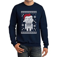 Retro robots ugly Christmas holiday sweaters are available here. Retro robots ugly Christmas holiday sweaters are fun and geeky.